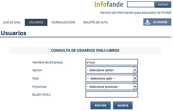Detall de cerca de dades SINLI del proveïdor